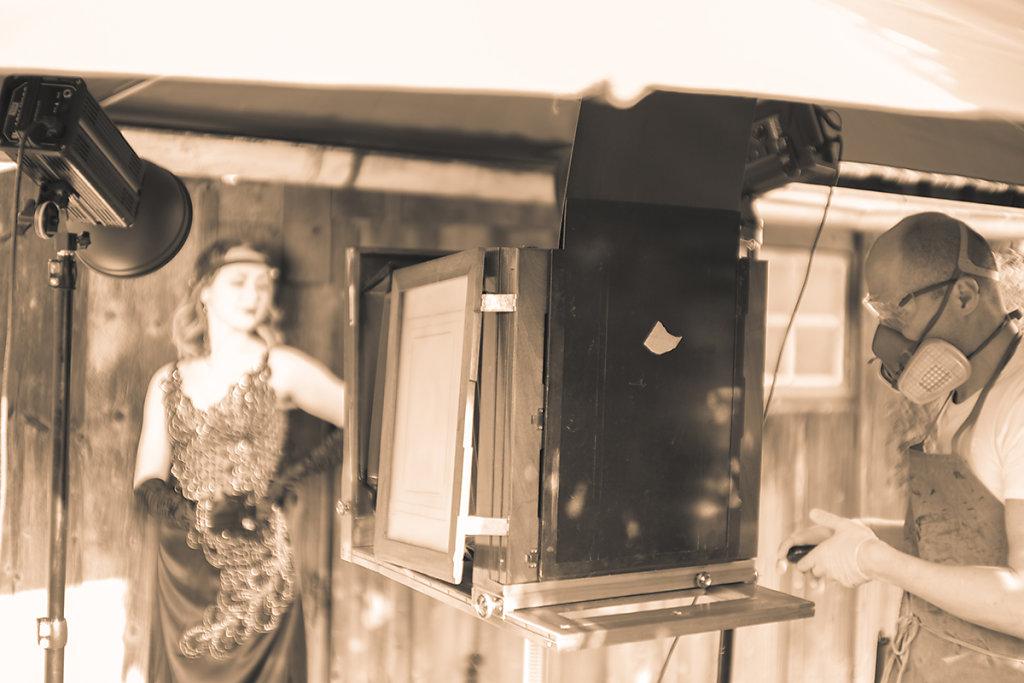 1920er Verlobungsshooting auf Kollodium Nassplatte