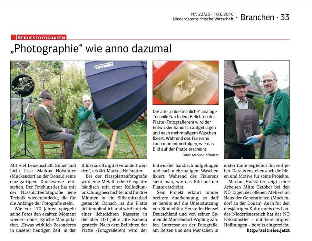 Artikel über mich und meine Arbeit in der Niederösterreichischen Wirtschaft