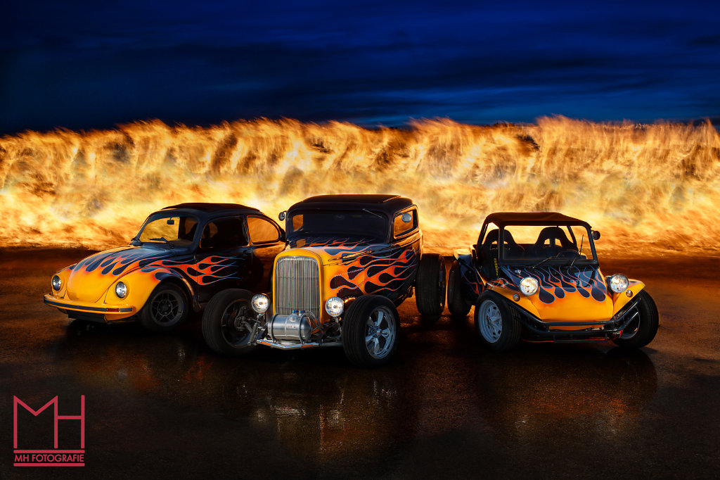 Hot Rod on Fire