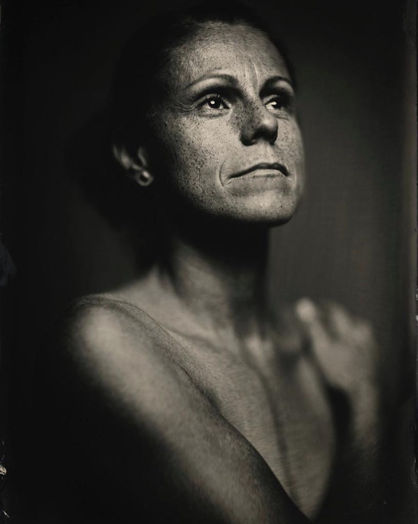 Porträt Nassplatte