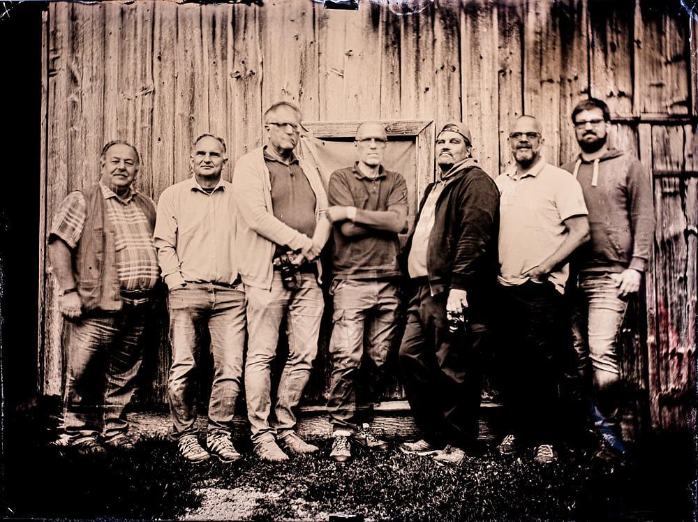 Gruppenfoto Nassplatte