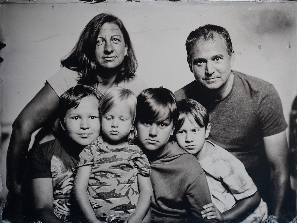 Familienfoto Nassplatte Schallaburg