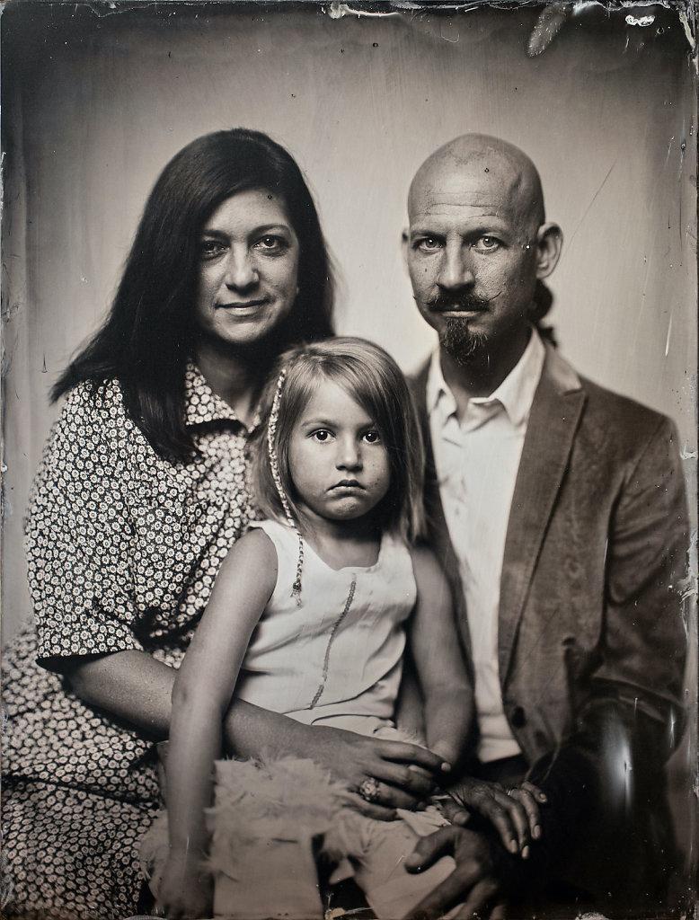 familienporträt Nassplatte